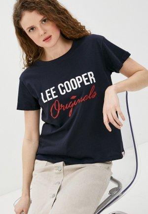 Футболка Lee Cooper. Цвет: синий
