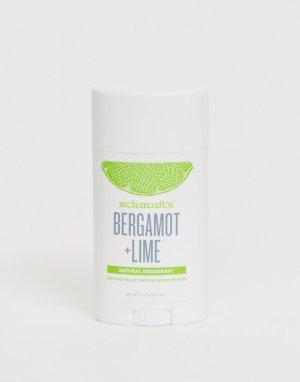 Натуральный дезодорант а ароматом бергамота и лайма Schmidts-Бесцветный Schmidt's