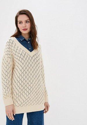 Пуловер Sela. Цвет: бежевый