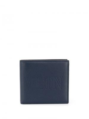 Бумажник VLTN Valentino Garavani. Цвет: синий