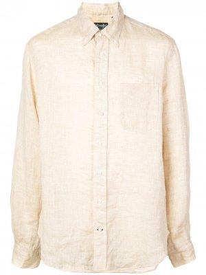 Рубашка с воротником на пуговицах Gitman Vintage. Цвет: коричневый