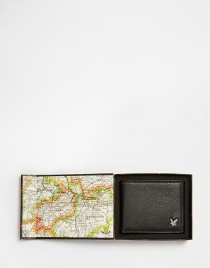 Кожаный бумажник Lyle & Scott. Цвет: черный