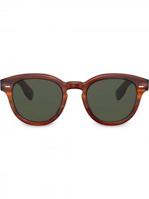 Солнцезащитные очки Carey Grant Oliver Peoples. Цвет: коричневый