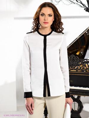 Блузка Fairly. Цвет: черный, белый