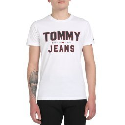 Футболка DM0DM07067 белый TOMMY JEANS