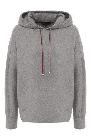 Кашемировый пуловер с капюшоном Loro Piana. Цвет: серый