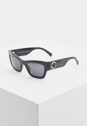 Очки солнцезащитные Versace VE4358 529587. Цвет: черный