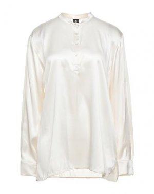 Блузка 1-ONE. Цвет: слоновая кость
