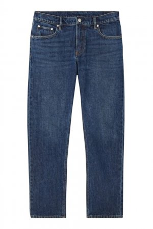 Прямые синие джинсы Burberry. Цвет: синий