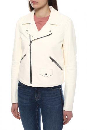 Куртка кожаная Loewe. Цвет: blanco