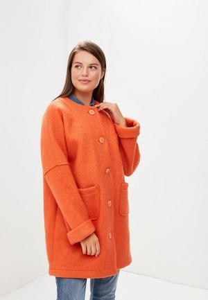 Пальто Indiano Natural IN012EWCHJC8. Цвет: оранжевый