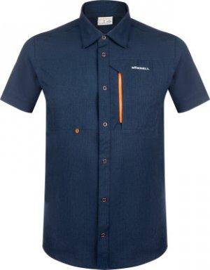 Рубашка с коротким рукавом мужская , размер 50 Merrell. Цвет: синий