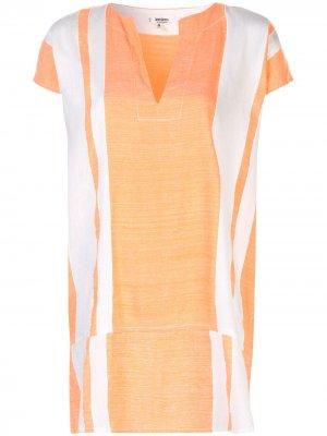 Платье-туника Zoya в полоску lemlem. Цвет: оранжевый
