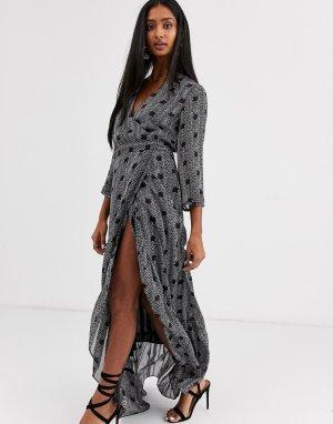 Платье макси -Синий BA&SH