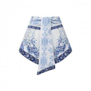 Льняные шорты Camilla. Цвет: голубой