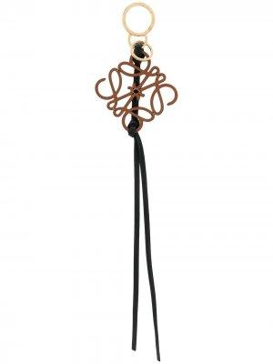 Брелок для ключей с логотипом Loewe. Цвет: черный