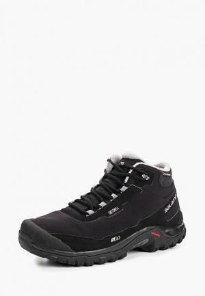 Ботинки трекинговые Salomon SHELTER CS WP. Цвет: черный