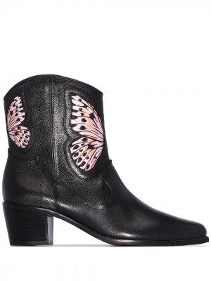 Ковбойские ботинки Shelby 50 Sophia Webster. Цвет: черный