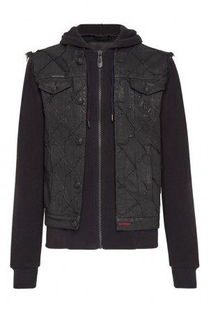 Темно-синяя куртка с жилетом Philipp Plein. Цвет: черный