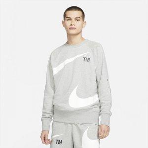 Мужской флисовый свитшот Sportswear Swoosh - Серый Nike