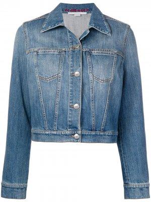 Укороченная джинсовая куртка Stella McCartney. Цвет: синий