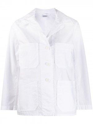 Джинсовая куртка-рубашка Aspesi. Цвет: белый