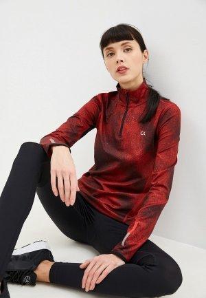 Лонгслив спортивный Calvin Klein Performance. Цвет: бордовый