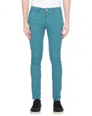 Повседневные брюки EXCLUSIVE. Цвет: цвет морской волны