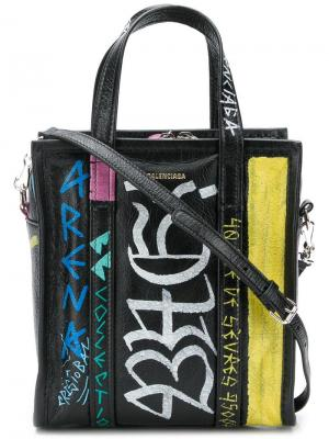 Сумка-тоут XS Bazar AJ Shopper Balenciaga. Цвет: черный