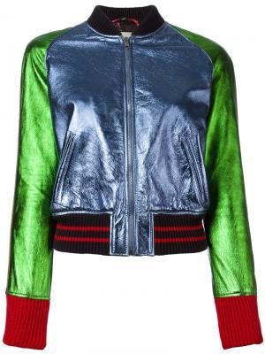 Colour block bomber jacket Gucci. Цвет: многоцветный