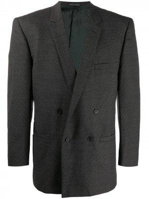 Двубортный пиджак 1980-х годов Versace Pre-Owned. Цвет: черный