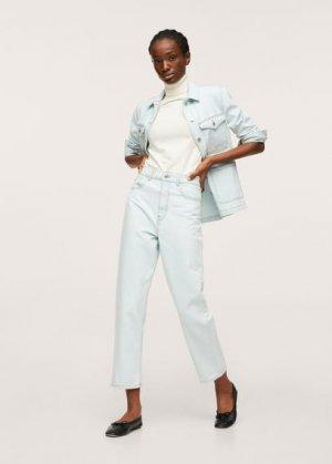 Джинсовая куртка с карманами - Ali-h Mango. Цвет: светло-синий