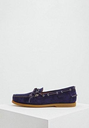 Топсайдеры Polo Ralph Lauren. Цвет: синий