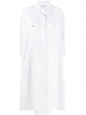 Платье-рубашка оверсайз Max Mara. Цвет: белый
