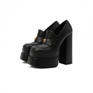 Кожаные туфли Versace. Цвет: чёрный