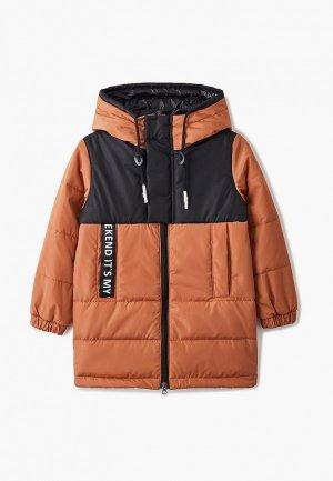 Куртка утепленная Boom. Цвет: коричневый