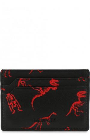 Кожаный футляр для кредитных карт Lanvin. Цвет: черный