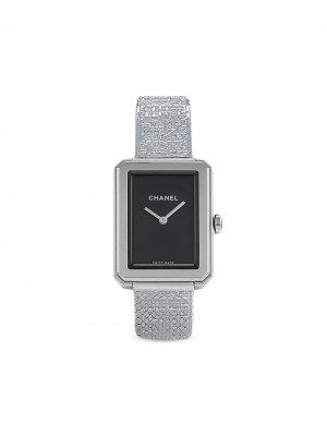 Наручные часы Boyfriend Tweed pre-owned 22.5 мм Chanel. Цвет: черный