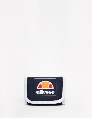 Бумажник с логотипом Ellesse. Цвет: синий