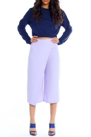 3-4 pants Moda di Chiara. Цвет: liliac