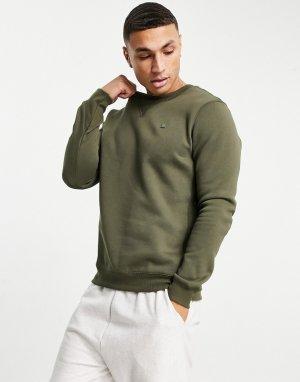 Базовый свитшот цвета хаки -Зеленый цвет G-Star
