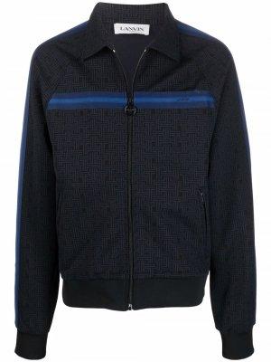 Полосатая куртка на молнии LANVIN. Цвет: синий