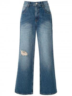 Широкие брюки Lara Amapô. Цвет: синий
