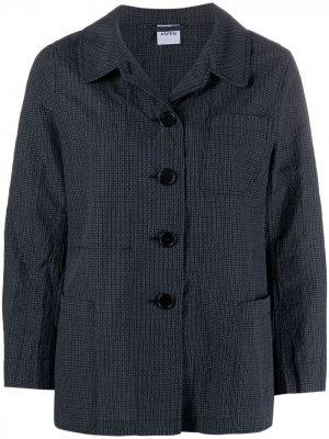 Куртка-рубашка в клетку Aspesi. Цвет: синий