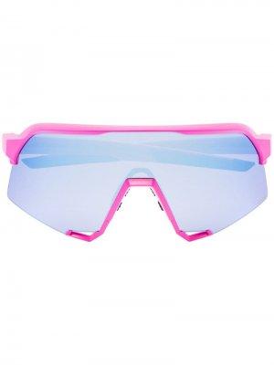 Солнцезащитные очки со сменными линзами 100% Eyewear. Цвет: розовый