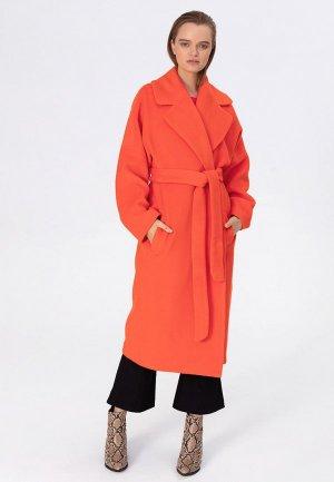 Пальто Pepen. Цвет: оранжевый