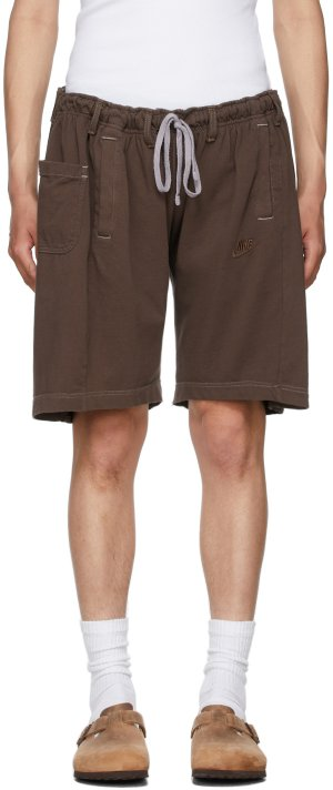SSENSE Exclusive Brown Overjogging Shorts Bless. Цвет: skintone 1