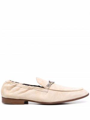 Carlo suede loafers LANVIN. Цвет: нейтральные цвета
