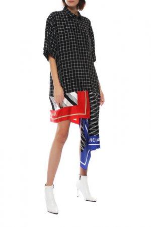 Платье Balenciaga. Цвет: 1070 черный, белый, клетка