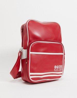 Дорожная сумка -Красный Crosshatch